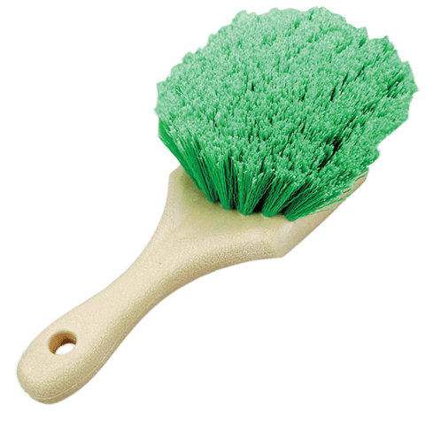 Green Flagged Body Detailing Brush - Short Handle
