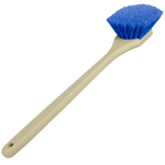 Blue Heavy Duty Wheel and Fender Detailing Brush - Long Handle