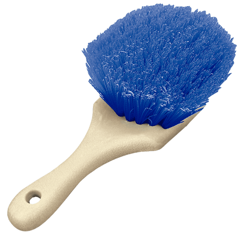 Blue Heavy Duty Wheel and Fender Detailing Brush - Short Handle