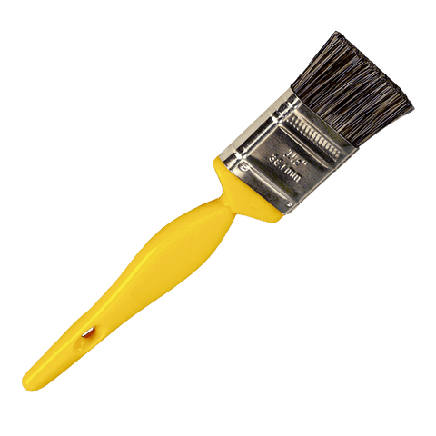 Paint Brush Style Auto Detail Brush - Yellow Handle