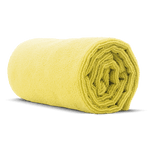 "Premium 16"" x 16"" Microfiber Towel - Yellow"