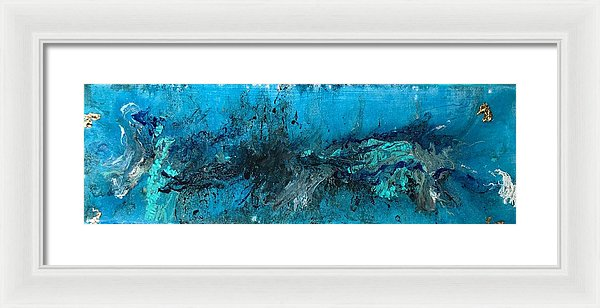Four Blues  - Framed Print