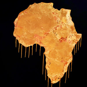 SOLD - Gold(in) Africa Original Painting