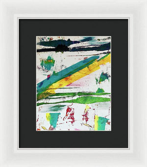 His Lines.  - Framed Print