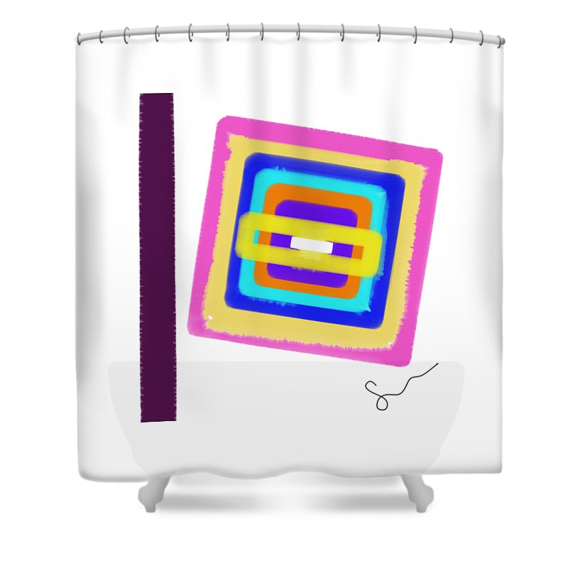 Lines In The Sand  - Shower Curtain