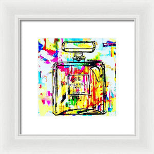 My Head In Chanel  - Framed Print