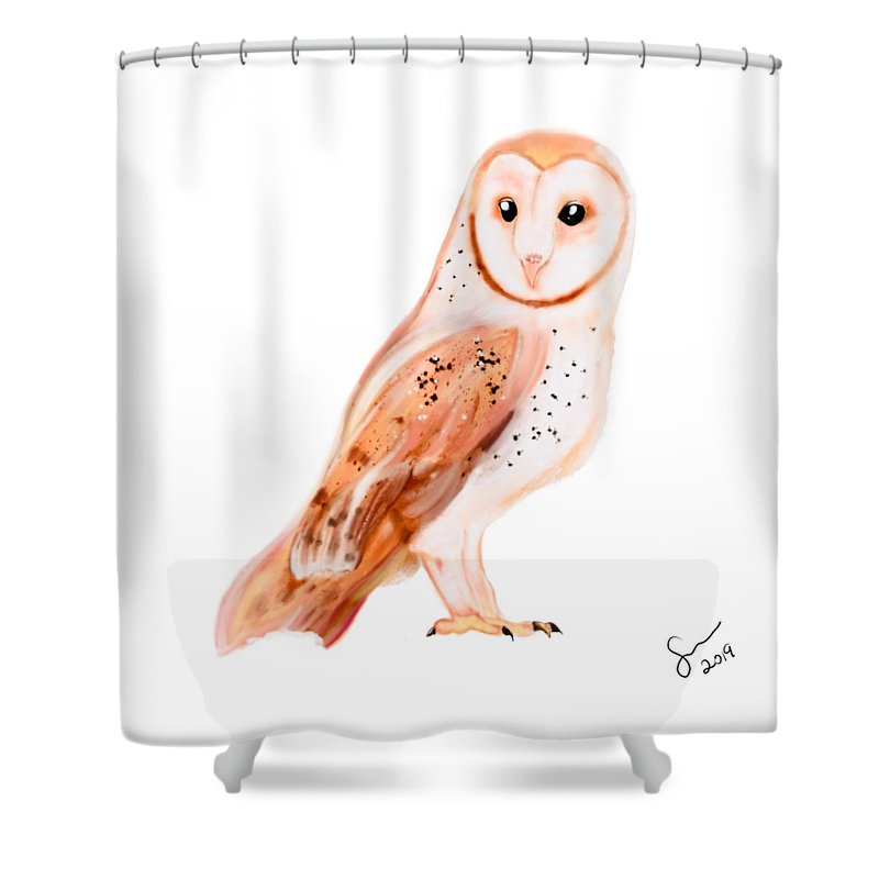 Owl  - Shower Curtain