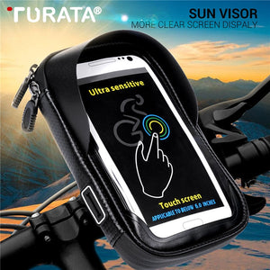 Turata 6.0 inch Waterproof Bike Mobile Phone Holder