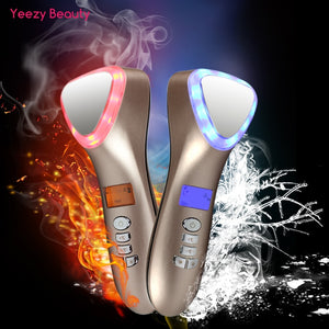 Ultrasonic Cryotherapy Hot Cold Facial Lifting LED Massager