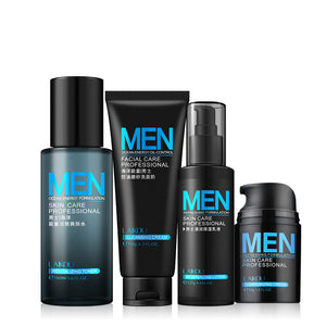 Skin Treatment for Men  A Set of 4 Oil Cleansers and Creams