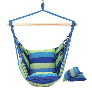 New Hanging Hammock Chair With 2 Pillows For Indoor Outdoor Enjoyment