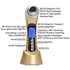 Ultrasonic High Frequency Handheld Facial Massager