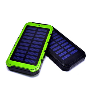 Solar Rechargeable HIGH AMP Power Pack External Battery Pack for iPhone Xiaomi Samsung