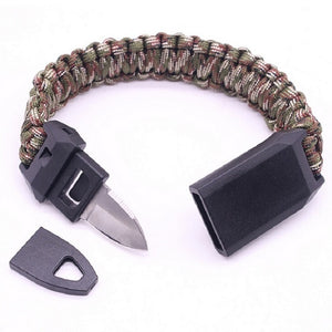 Outdoor Survival Paracord Bracelet with Emergency Survival Knife