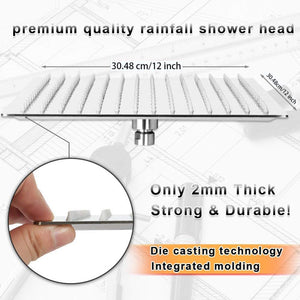 16 Inch Large Square Waterfall Shower Head Like the Pouring Rain