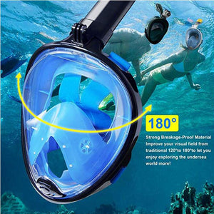 2019 Underwater Scuba Anti Fog Full Face Diving Mask Snorkeling Set Respiratory masks Safe and waterproof Swimming Equipment