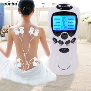 Electric Acupuncture for Muscle Massage Therapy 8 Pads for Back Neck Feet and Legs