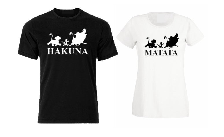 Simba, Pumba and Timon T shirt, Hakuna Matata matching couple family T shirt-men woman T shirts-DiamondsKT