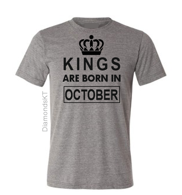 Kings are born in November December January February March April May June July T shirt-men T shirts-DiamondsKT