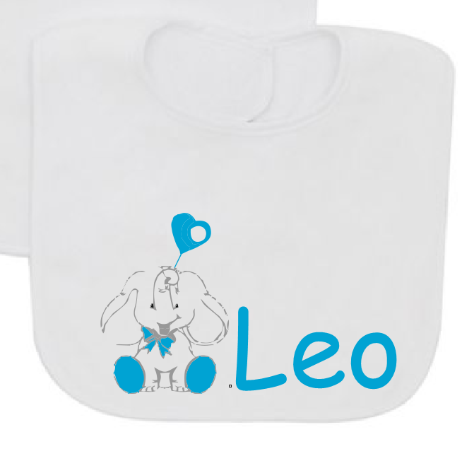 Baby elephant personalizated with baby name baby bib-Baby Bibs-DiamondsKT