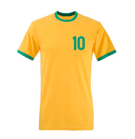 Pele 10 Brazil football player T shirt-men woman hoodie-DiamondsKT