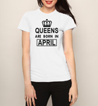 Queens are born in November December January February March April May June July T shirt-woman t shirts-DiamondsKT