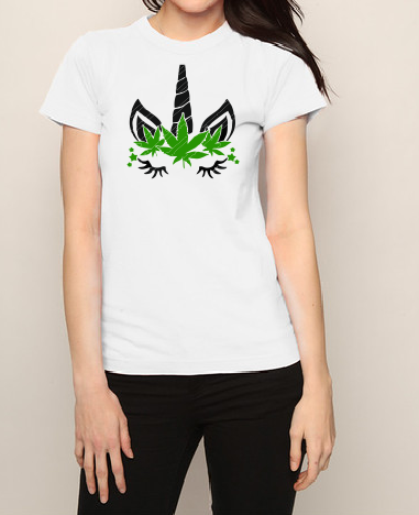 Weedcorn unicorn T shirt-men woman T shirts-DiamondsKT