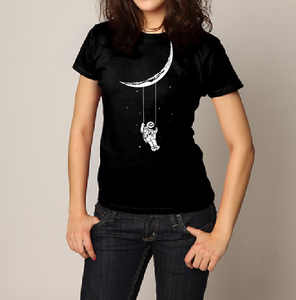 Astronaut swayed to the moon T shirt-men woman T shirts-DiamondsKT
