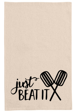 Just beat it kitchen tea towel-kitchen towels-DiamondsKT