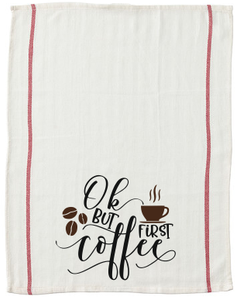 Ok but first Coffee kitchen tea towel-kitchen towels-DiamondsKT