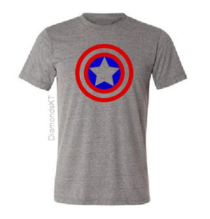 Captain America Kids Boy Girl cotton t shirt-Kids T shirts-DiamondsKT
