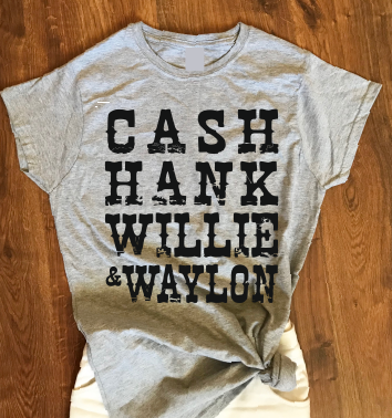 Cash Hank Willie Waylon T shirt-men woman T shirts-DiamondsKT