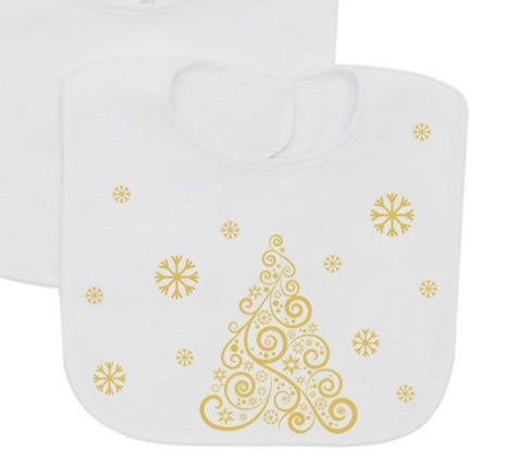 Christmas tree Baby Bib-Baby Bibs-DiamondsKT