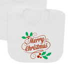 Merry Christmas Baby Bib-Baby Bibs-DiamondsKT