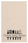 Custom / Your Surname personalized kitchen tea towel-kitchen towels-DiamondsKT