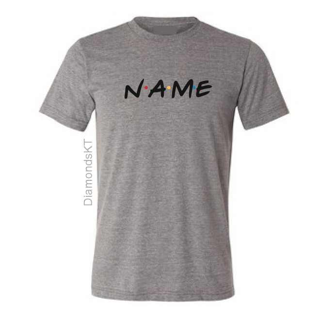 Name Friends TV show custom personalized your name here Boy Girl Kids T shirt-Kids T shirts-DiamondsKT