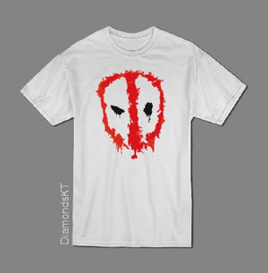 Deadpool face T shirt-men woman T shirts-DiamondsKT