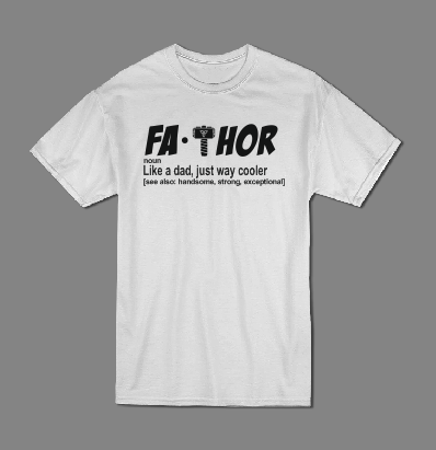 Fa Thor men Father's Day T shirt-men T shirts-DiamondsKT