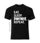 Eat Sleep Fortnite Repeat T shirt-men woman T shirts-DiamondsKT