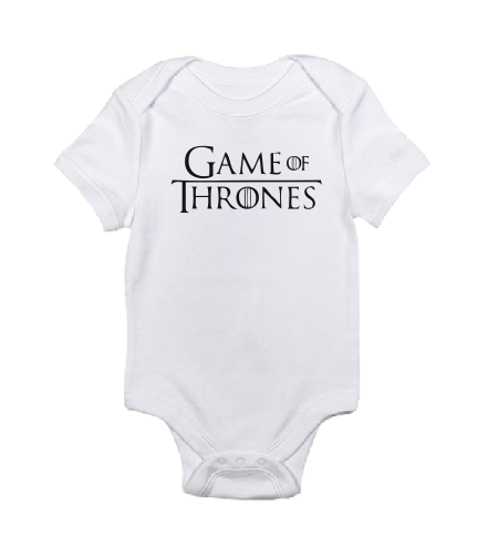 The Game of Thrones GOT white black baby bodysuit / onesie-baby bodysuit onesie-DiamondsKT