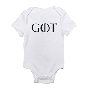 GOT The Game of Thrones white black baby bodysuit / onesie.-baby bodysuit onesie-DiamondsKT