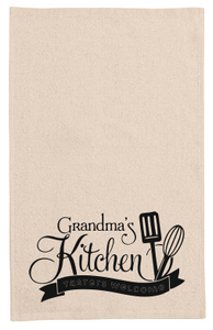 Grandma's kitchen tea towel-kitchen towels-DiamondsKT