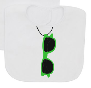 Summer baby bib with sunglasses-Baby Bibs-DiamondsKT