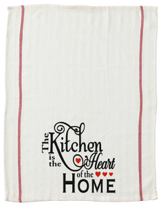 The Kitchen is the Heart of the Home kitchen tea towel-kitchen towels-DiamondsKT
