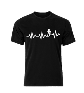 Hiking heartbeat T shirt-men woman T shirts-DiamondsKT