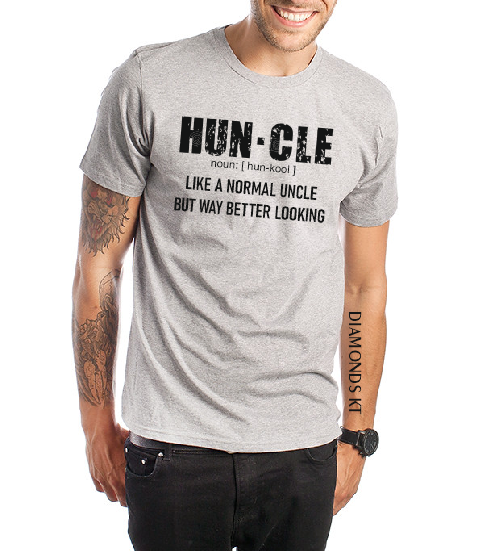 HUNCLE Funny Cool Uncle men Father's Day Uncle t shirt gift-men T shirts-DiamondsKT
