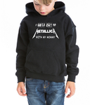 I rock out Metallica with my Mommy Kids / Boy / Girl / Baby cotton hoodie-DiamondsKT