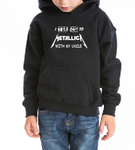 I rock out Metallica with my UNCLE Kids / Boy / Girl / Baby cotton hoodie-DiamondsKT