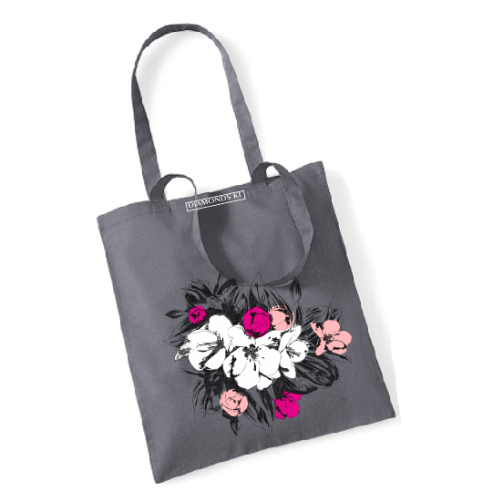 Magnolia blossoms flowers reusable shopping bag-shopping bags-DiamondsKT