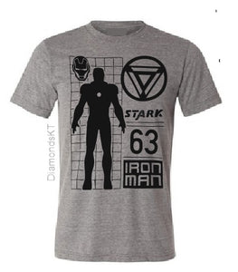 Ironman adults T shirt-men T shirts-DiamondsKT